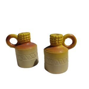 Vintage Corn Whiskey Plastic Jug Salt & Pepper Set